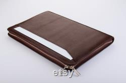 Apple Macbook Air Leather Sleeve Carrying Business Briefcase,Zipper Folio Cover Case for Macbook Air 11 and 13 Carrying,Macbook Portfolio