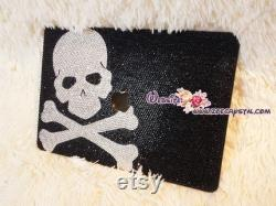 Bling and Stylish MACBOOK Pro Air Retina Black Crystal CASE with Skull