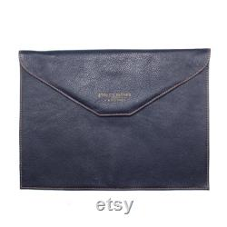 Blue Leather Computer Sleeve