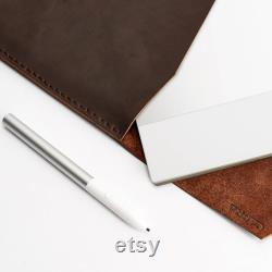 Brown Leather Pixelbook and Pixelbook Go Sleeve, Handmade Google Case, Sleeve Case for Men, With Pen Holder, Protective Tech Folio Bag, Gift