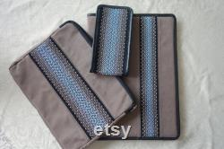 Business Set for Your Devices, Handmade Doc and Gadget Case Set, Docs, Laptop and Phone cases in the same motif