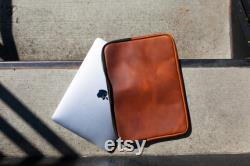 Genuine Leather Macbook 15 Case Leather Laptop Case with Lining Minimal Design Laptop Sleeve Gift for Him Macbook Pro Case