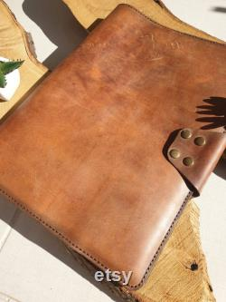 Handcrafted Leather Macbook Air 13 Case, Macbook Pro Case Organizer, Leather Laptop Case, Personalized Leather Padfolio, Laptop Case Sleeve