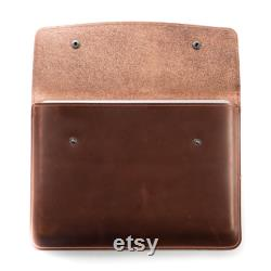 Handcrafted Leather iPad Pro Case in Whiskey Leather ipad sleeve Leather ipad portfolio case with flap Men's gift