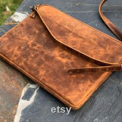 Handmade Genuine Leather macbook sleeve case for 12 13 15 inch macbook Fathers day Gift for him macbook air 13 15 inch sleeve case