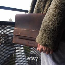 Handmade Leather Notebook Cover for 13''-14'', Leather Macbook Sleeve, Leather Notebook Sleeve, Macbook Pro 13 Case 2020, Leather Case
