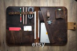 Handmade Personalized Leather Organizer, A Great Design for Macbook and Laptop Users, Business-Laptop Case, Gift for him