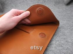 Handstitched French luxury Leather macbook 15 16 inch sleeve, classic laptop 15 inch cover genuine French NOVONAPPA leather