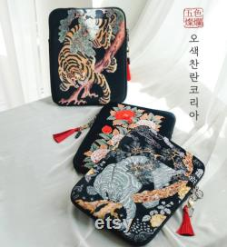 LIMITED Korean Traditional style folktale painting unique laptop tablet sleeve cover ipad macbook 11 13 15 inch