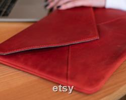 Laptop Sleeve 14 for Apple Macbook Air, Macbook Air 13, Pro 16, Genuine Leather Gifts for Women, Surface Laptop Case, Leather Envelope Bag