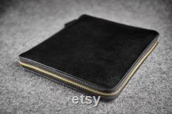 Leather Felt iPad Sketchbook Documents Travel Case Hand-made