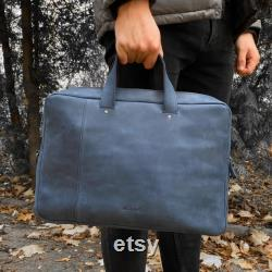 Leather Laptop Bag for MacBook Pro 15 inch Handle Briefcase MacBook Sleeve MacBook Pro 17 inch Messenger Bag Personalized Leather Gift