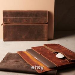 Leather Laptop Sleeve MacBook Pro 15 Inch 16 inch Case Handcrafted MacBook Pro