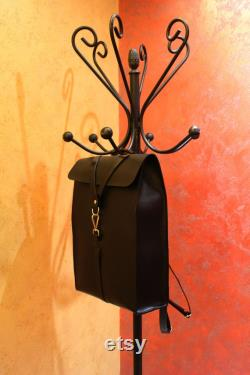 Leather bag, Leather backpack for men, Backpack for laptop, folders, ect. Leather school bag, Desinged and crafted by Ludena