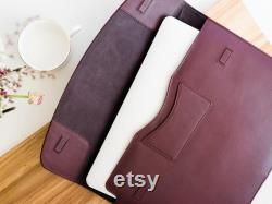 Leather laptop cover for 13 15 16 inch MacBook Pro Air (2018 2019 2020) Leather laptop case Personalized Monogrammed laptop sleeve