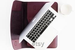 Leather laptop sleeve 13 15 16 inch MacBook Leather case for MacBook Pro Air Leather business folio Laptop portfolio Personalized