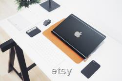 Luxury Edition MacBook Black Leather Case, MacBook Air Pro Leather Case. Stylish Laptop Cover,MacBook Air A2337,MacBook A2338 Case