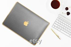 Luxury Edition New MacBook Air A2337, MacBook Pro 2020 A2338 Case, Carbon Fiber MacBook case, MacBook Pro Carbon Case.