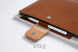 MacBook Air 13 MacBook Pro 13 leather sleeve MacBook leather sleeve cover case with natural wool felt lining and magnetic closure