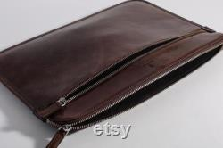 MacBook Case Brown Slim Leather Cover
