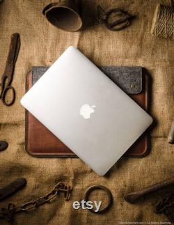 MacBook Pro 13 inch case MacBook Air 13 M1 sleeve MacBook Pro 15 cover brown vegetable tanned Crazy Horse leather gift, MacBook Pro 16 bag
