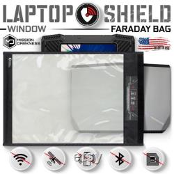 Mission Darkness Window Faraday Bag for Laptops Signal-blocking Sleeve for Laptops and Large Electronics Anti-hacking and Anti-tracking