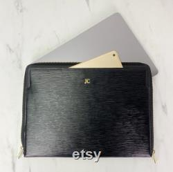Monogram Hot Stamp Epi Leather 13 Laptop Macbook Pro Air iPad Case Sleeve Combo personalise customise tablet Valerie Constance