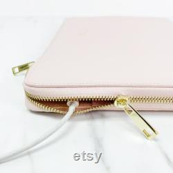 Monogram Hot Stamp Smooth Leather 13 16 Laptop Macbook Pro Air iPad Case Sleeve personalise tablet macbook Valerie Constance