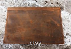 Monogrammed Laptop Sleeve, Personalized 15 Laptop Case, Personal Graduation Gift, Genuine Distressed Leather Sleeve