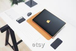 New MacBook Air 2020, MacBook Pro Black Leather Gold Luxury Edition Case, MacBook Stylish Laptop Cover