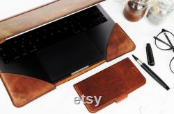 Personalized Leather Case for MacBook Pro and Air 13 inch 2020, Case Cover, Protective Case for Macbook M1, Genuine Leather Case, 13 Inch Case