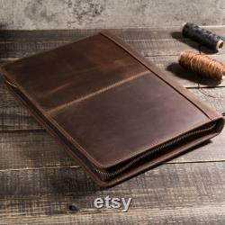 Retro zipper Leather Case ipad Protective Cover Crazy Horse Leather Case With Pen Slot Ipad Tablet 10.5 Multifunctional Zipper Leather Case