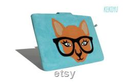 Surface Pro Case, Personalized Case, Surface Go Sleeve, Cat Bag, Surface Book Sleeve, Handmade Surface Laptop Case, Surface Pro Cover