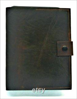 TABLET Bi-Fold Case in Vintage Distressed LEATHER with Horween Tan Leather Inside