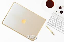 White Pearl w Gold, Macbook Air 13, Macbook Pro 13 and more, Personalized Gift, New MacBook Air 2020, MacBook Pro 2020